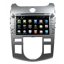 lsqSTAR 8インチ静電容量式Android 4.4マルチメディアステレオナビゲーションシステム車GPSナビゲーションLCDタッチ画面ナビゲーションシステムオーディオラジオBluetooth RDSステアリングホイールコントロール車ラジオfor 2009–2012Kia Forte / 2009–2012Kia Cerato / 2009–2011Kia Cerato Forte (シンガポール) / 2009–2011Naza Forte (マレーシア) Automatical ACコントロールサポート3G / Wifi / obd2/ TPMS / DVR /ミラーリンク