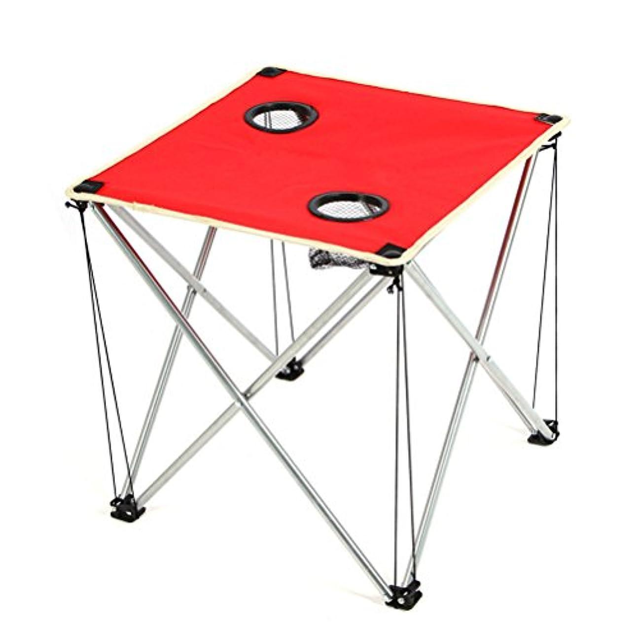 WINOMO折りたたみ式キャンプピクニックテーブル軽量テーブルのキャンプビーチアウトドア(レッド)