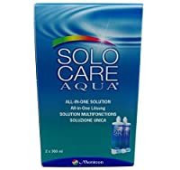 Solocare Aqua Contact Lens Solution 3 Month Pack (360mlx2) by Solocare