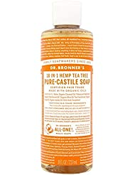 [Dr Bronner] Dr。ブロナーズオーガニックティーツリー純粋-カスティーリャ液体石鹸237ミリリットル - Dr. Bronner's Organic Tea Tree Pure-Castile Liquid...