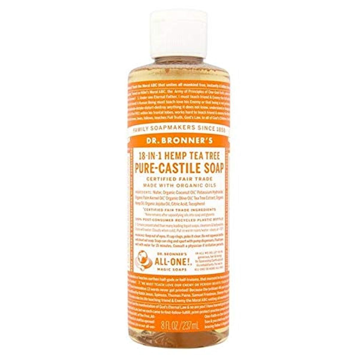 背が高い太平洋諸島ヘア[Dr Bronner] Dr。ブロナーズオーガニックティーツリー純粋-カスティーリャ液体石鹸237ミリリットル - Dr. Bronner's Organic Tea Tree Pure-Castile Liquid...