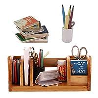 Fityle 1/12ミニチュア木製ブックシェルフペンケース 本 おもちゃ ドールハウス オフィス サプライキット アクセサリー