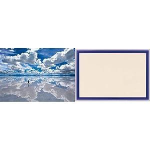3000ピース ウユニ塩湖 木製フレームセット シャインブルー