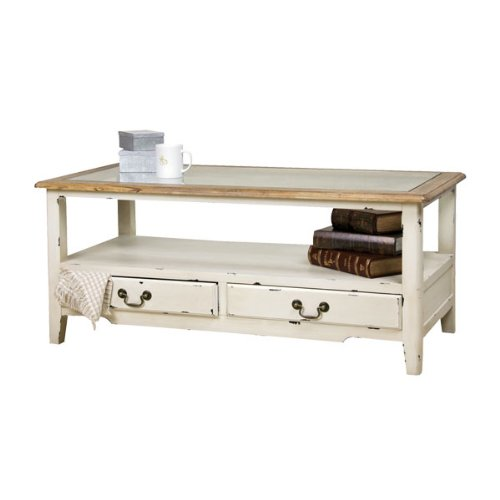 ローテーブル 木製 シャビー フレンチアンティーク調 ブロッサム COL-013