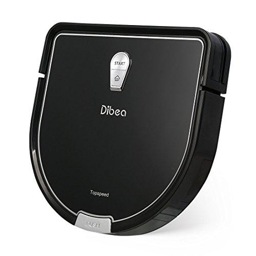 Dibea D960 ロボット掃除機/薄くDシェイプデザイン/水拭き掃除機能/衝突防止・落下防止/ペット(ブラック)