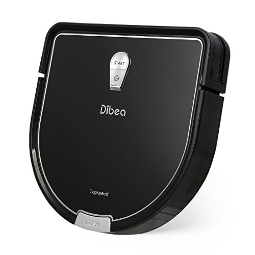 Dibea ロボット掃除機 D960 自動充電 水拭き 薄型 超静音&強力吸引 衝突&落下防止 150分間長時間稼動 お掃除ロボット (ブラック)