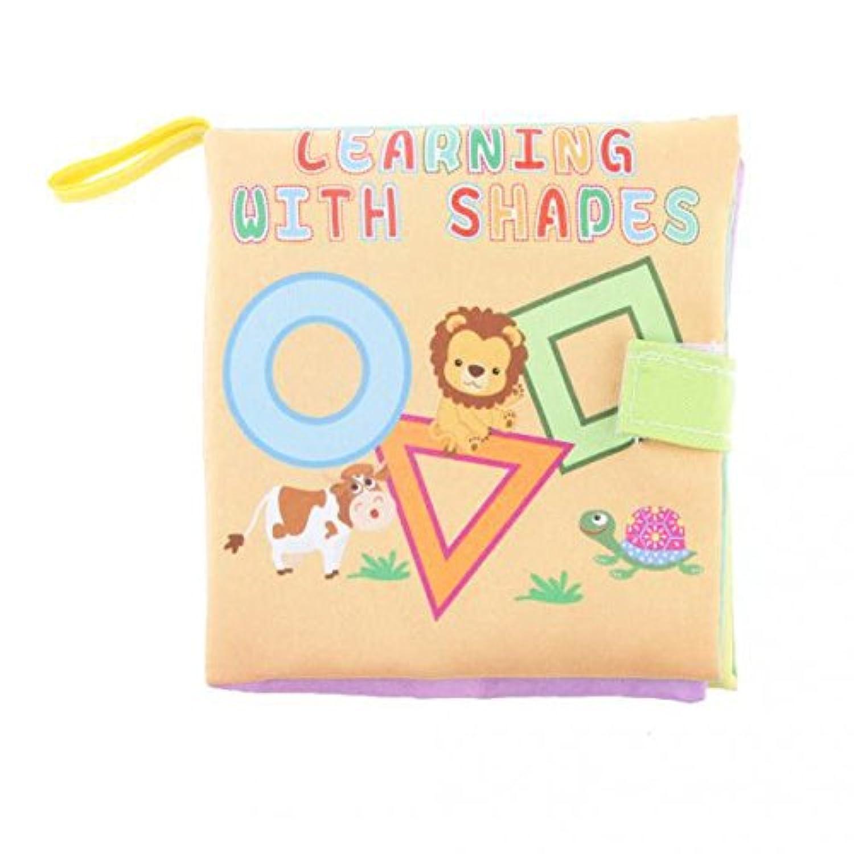 ノーブランド品 2個 カラフル かわいい動物 幾何学 テーマ 布帳ソフト 赤ん坊 幼児 教育玩具 ギフト - 幾何学