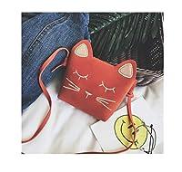 Candykids 可愛いネコちゃんのポシェット子供 キッズ 女の子 ショルダーバッグ ファッション小物 軽量 お出かけカバン 可愛い 萌え萌え ジッパーバッグ 遠足 (オレンジ)