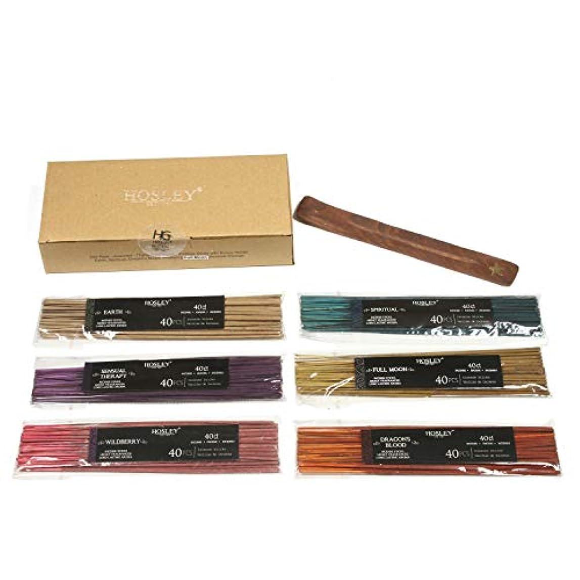 逃れる壊す名誉あるAromatherapy Hosley's 240 Pack Assorted Highly Fragranced Incense Sticks - Dragon's Blood, Earth, Full Moon, Sensual...