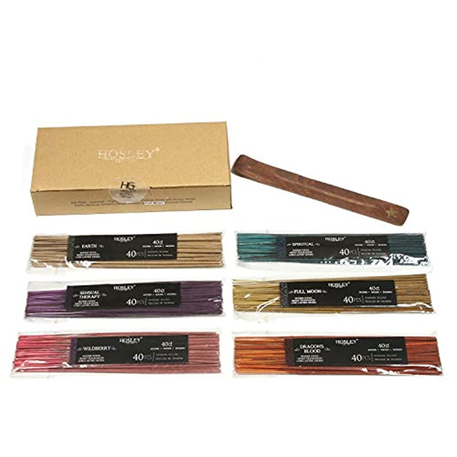 メロン頑固なフックAromatherapy Hosley's 240 Pack Assorted Highly Fragranced Incense Sticks - Dragon's Blood, Earth, Full Moon, Sensual...