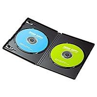 サンワサプライ DVDトールケース 2枚収納×3 ブラック DVD-TN2-03BK