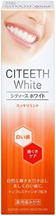 年次楽しい野望シティースホワイト+歯ぐきケア 110g [医薬部外品]