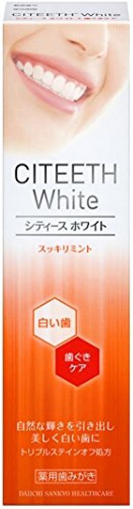 メタルラインまだエンドテーブルシティースホワイト+歯ぐきケア 110g [医薬部外品]