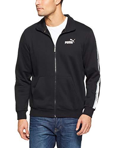 PUMA Men's Tape Track Jacket, Cotton Black, M