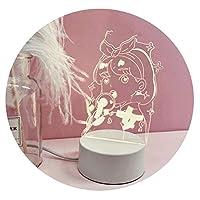 INS風の少女漫画純赤い小さなテーブルランプ美しい少女愛の投影3Dナイトライトクリエイティブ装飾ライト,【限定ネット赤モデル】女の子が電池を送る購入店を追加,リモートスイッチ