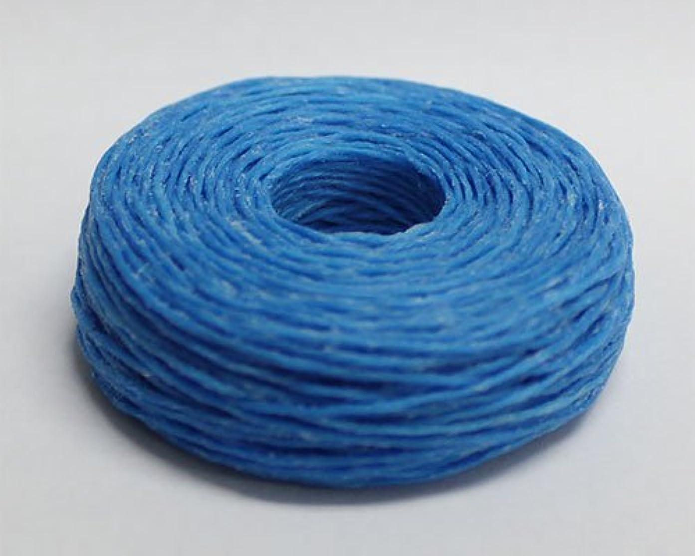 起点呪われた静かな手縫いロー引き糸(細)25m 13.スカイブルー