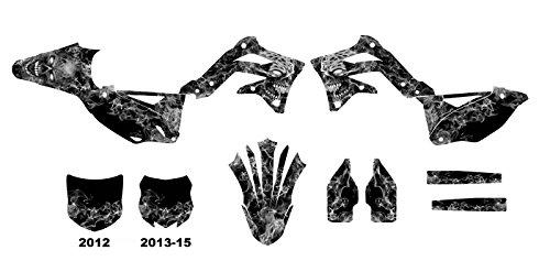 カワサキkx450F 2012–2015ダートバイクグラフィックスデカールキットby Allmotorgraphics no9500メタル