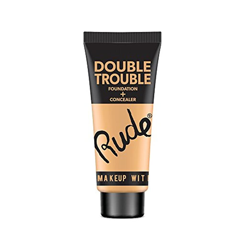 コード説得波紋(6 Pack) RUDE Double Trouble Foundation + Concealer - Ivory (並行輸入品)