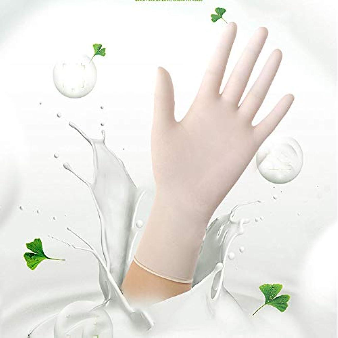 モットー記念日人気のニトリル検査用手袋 - 医療用グレード、パウダーフリー、ラテックスラバーフリー、使い捨て、非滅菌、食品安全、インディゴ色、100カウント、サイズS-L (Color : White, Size : S)