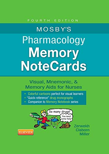 Download Mosby's Pharmacology Memory NoteCards: Visual, Mnemonic, and Memory Aids for Nurses, 4e 0323289541