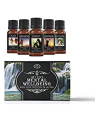 Mental Wellbeing | Essential Oil Blend Gift Pack | Anxiety, Confidence, Happiness, Peace, Revitalise | 100% Pure...