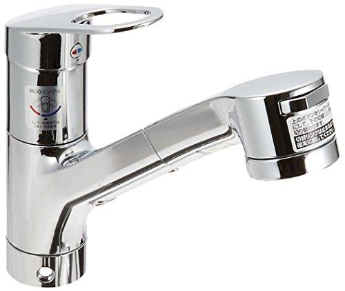 台付シングル混合水栓(エコシングル、ハンドシャワー) TKGG32EBR