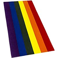 Softerry Gay Flag Beach Towel LGBT Pride Parade 30 x 60 inches Rainbow Colors Resistance Movement