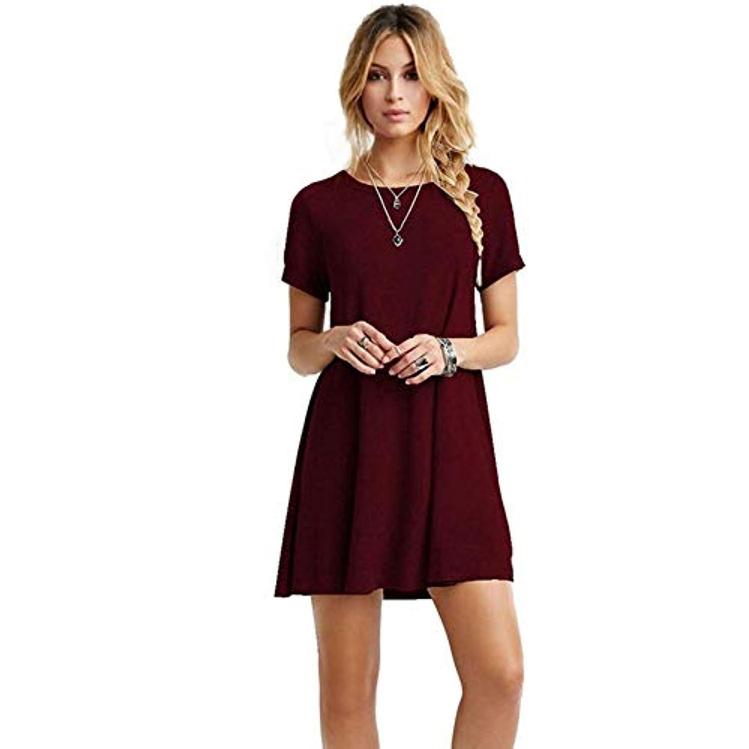 王女嫉妬コーデリアMIFAN の女性のドレスカジュアルな不規則なドレスルースサマービーチTシャツドレス