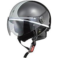 リード工業 バイク用ハーフヘルメット O-ONE(オワン) ブラック/シルバー -