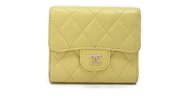 0b0a0046ec6d Amazon | [シャネル] CHANEL マトラッセ 三つ折財布 財布 イエロー レザー [中古] | CHANEL(シャネル) | 財布