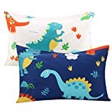 Kids Toddler Pillowcases UOMNY 2 Pack 100% Cotton Pillow Cover Pillowslip Case Fits Pillows sizesd 13 x 18 or 12x 16 for Kids Bedding Pillow Cover Baby Pillow Cases Dinosaur Kids' Pillowcases