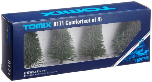 Nゲージストラクチャー 針葉樹 (4本セット) 8171