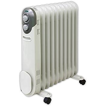 山善(YAMAZEN) オイルヒーター(1200/700/500W 3段階切替式)(温度調節機能付) ホワイト DO-L123(W)