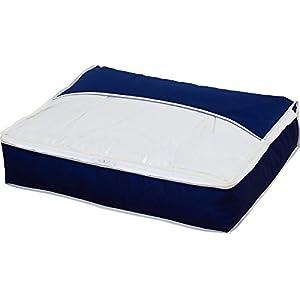 アストロ 羽毛布団収納ケース スリム 紺色 かさばる羽毛布団をコンパクトに収納できます! 177-18