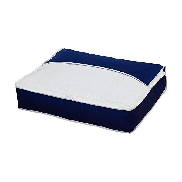 アストロ 羽毛布団収納ケース スリム 紺色 かさ...の商品画像