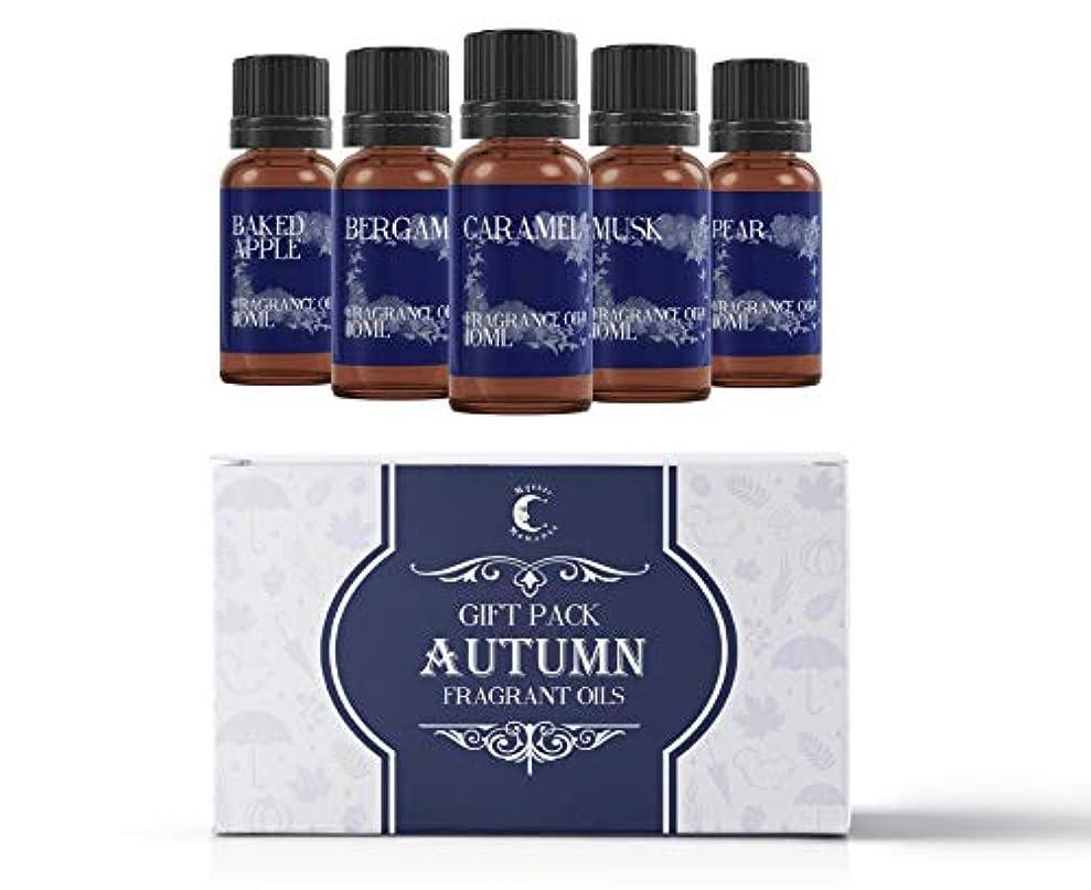 生き残ります心のこもったスリットMystic Moments | Fragrant Oil Starter Pack - Autumn Oils - 5 x 10ml