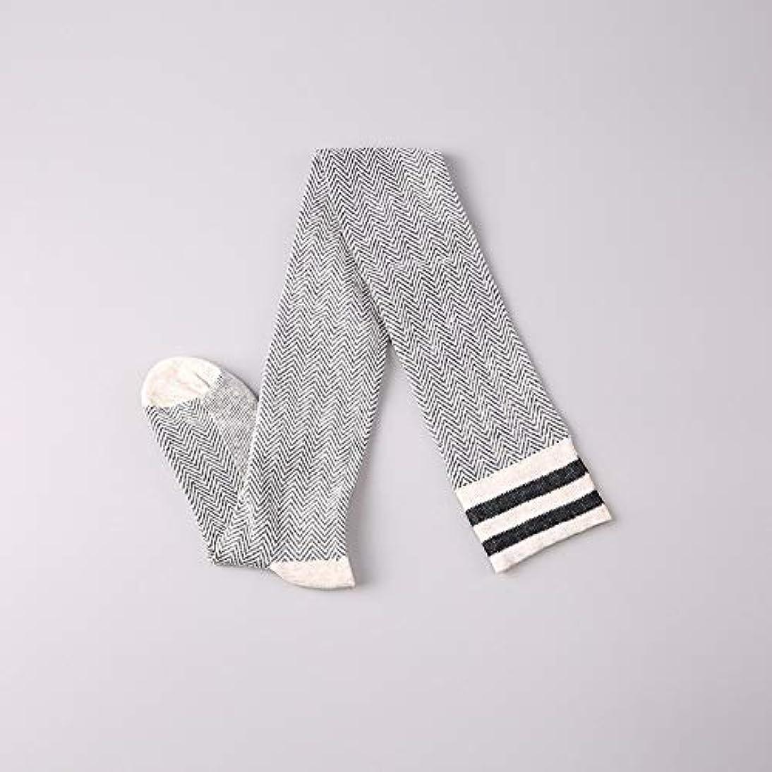 検閲グラフ説明的秋と冬の綿は膝の靴下ノンスリップストッキングカレッジ風国立レトロ日本の 腿のソックスの上に薄かった