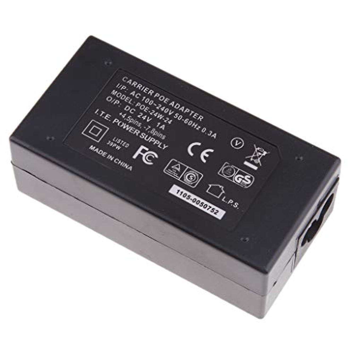 動かない収束シンプルさBaoblaze デスクトップ POE電源モジュール インジェクタスイッチ イーサネット/カメラ/電話用 アダプタ ブラック