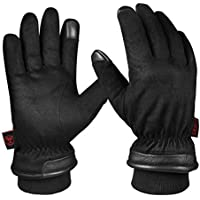 OZERO Waterproof Winter Gloves for Driving, Motorcycle, Thermal Gifts for Mens Warmth in Cold Weather
