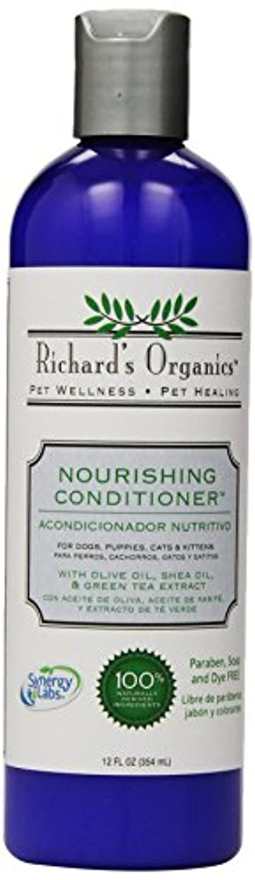 体系的に器用湿原SynergyLabs Richard's Organics 栄養補給コンディショナー; 12液量オンス。 オンス