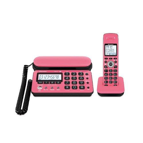 Pioneer デジタルコードレス電話機 子機1台付き 1.9GHz DECT準拠方式 ピンクブラック TF-SD10S-PK