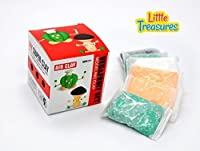 Veggies & Fruit Moulding play-dough kit 2-in-1 - create your 3D fruits and vegetables - fun arts & craft kid's artist toy project Clay modelling and sculpting DIY play-set