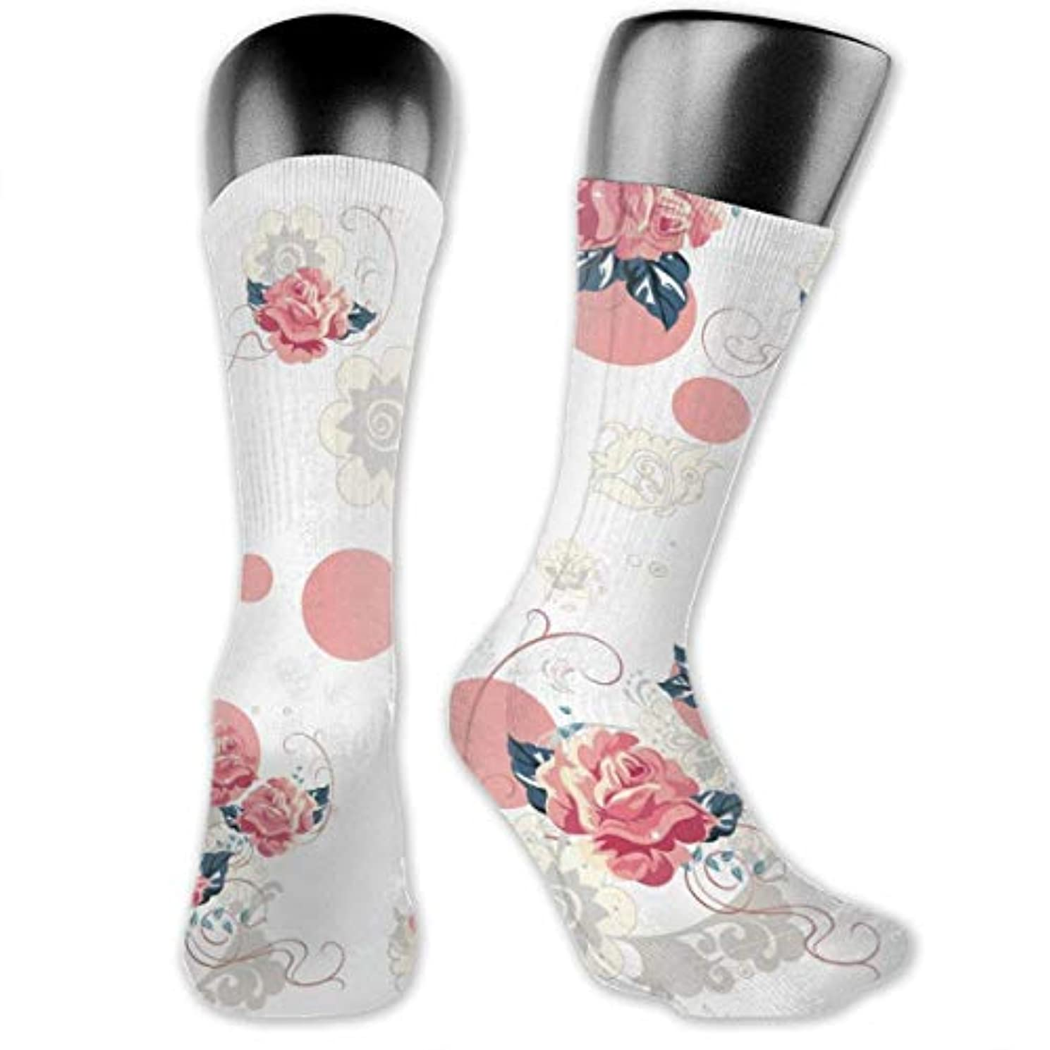 サラミアジャ継承MKLOS 通気性 圧縮ソックス Breathable Thigh High Socks Over Exotic Psychedelic Print Compression High Tube Thigh Boot Stockings...