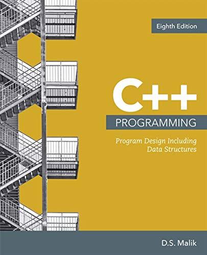 Download C++ Programming: Program Design Including Data Structures 1337117560