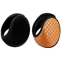 MINRUIGONGMAO-O Ear Protectors, Male And Female Portable Earmuffs, Travel Sports Night Earmuffs, Winter Outdoor Protective Equipment, Brown 2 Packs Ear Protectors (Color : D)