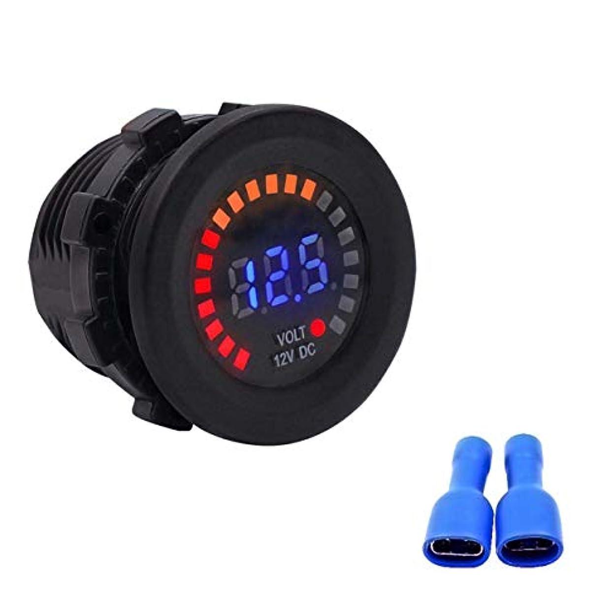 シンプルさジョセフバンクス振り子12V防水カーオートバイLEDデジタルパネルディスプレイ電圧計電圧計