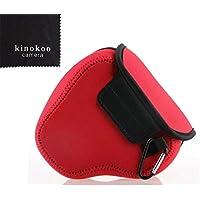 kinokoo NIKON P600 / P500 / P510 / P520 / P530対応 一眼カメラケース カメラバッグ ルフトデザイン スリムフィット カメラジャケット 標識クロス付き (RD)