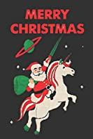 """Merry Christmas  Unicorn: Notebook for Kids,Funny Kids Gift, Lined Notebook for Kids,Large 6""""x9"""" 100 pages (Blank Lined NoteBook)"""