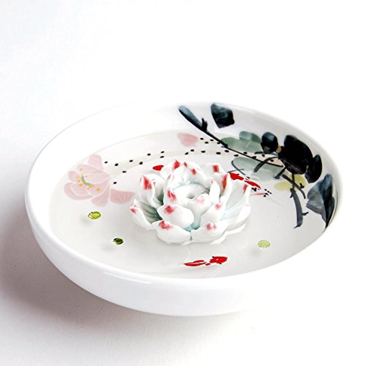 三番中に実質的お香立て お香たて 香の器 お香を焚いて 香皿,陶磁器、白