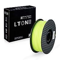 (蛍光黄色/Fluorescent yellow) LTONE 3D printer filament 、 PLAフィラメント 、 3Dフィラメント 、 1.75mm 1kg 公差±0.02mm, 用3Dプリンタ FDMプリンタ ,3Dペン 、 無臭